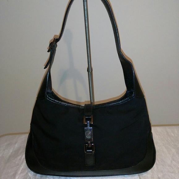 Gucci Handbags - Gucci Jackie O Mini Black Hobo Handbag 03d3372e8e971